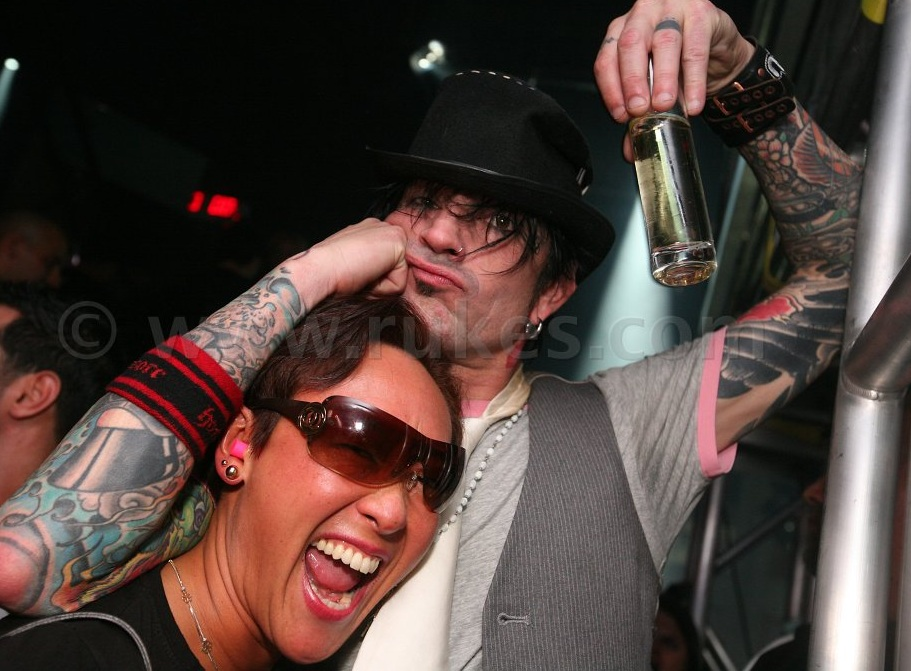 With former client Tommy Lee
